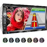 """XOMAX XM-2DN6903 Radio de coche I Autoradio con Navegación GPS I Mapas de Europa I Bluetooth Manos libres I 6,95"""" 17,7 cm pantalla táctil I DVD/CD I USB I SD I 2 DIN"""