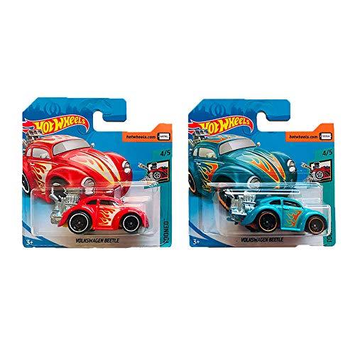 Hot Wheels Volkswagen Beetle Tooned Pack 2