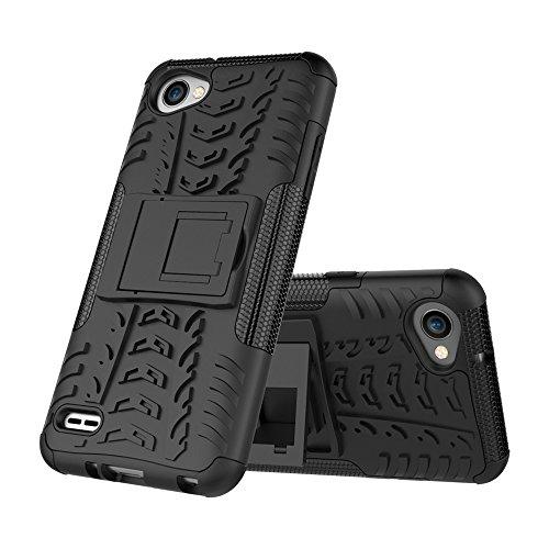 FoneExpert® LG Q6 Handy Tasche, Hülle Abdeckung Cover schutzhülle Tough Strong Rugged Shock Proof Heavy Duty Case Für LG Q6