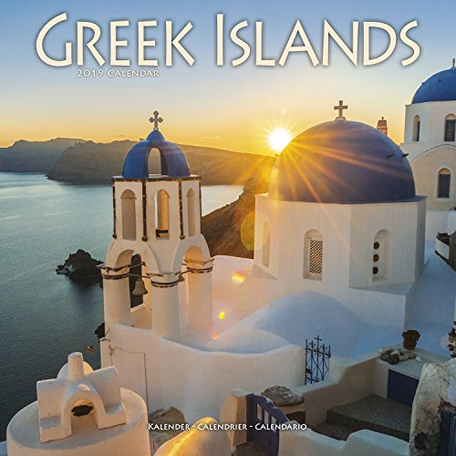 Greek Islands - Griechischen Inseln 2019: Original Avonside-Kalender (Square)