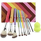MAKEUP CAT 10 Pieces Makeup Brush Set Professional Synthetic Hair Makeup Brushes Set1