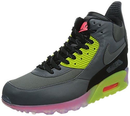 Nike Air Max 90 Sneakerboot Ice 684722-002 Herren High-Top Sneaker Mehrfarbig (Drk Grey/Blk-Frc Grn-Hypr Pnch 002) 42