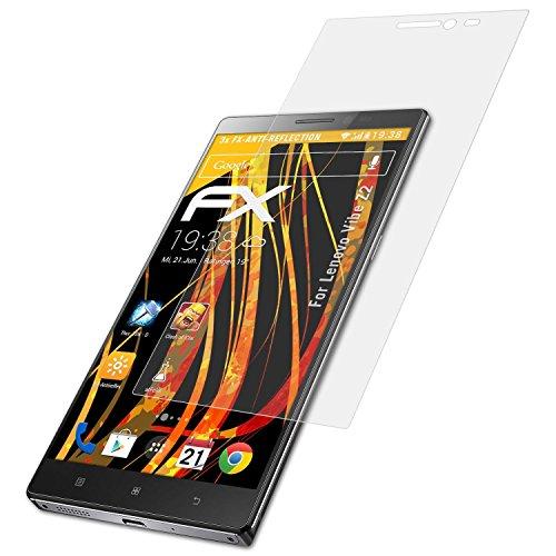 Vibe Z2 Lenovo Smartphone (atFoliX Schutzfolie für Lenovo Vibe Z2 Displayschutzfolie - 3 x FX-Antireflex blendfreie Folie)