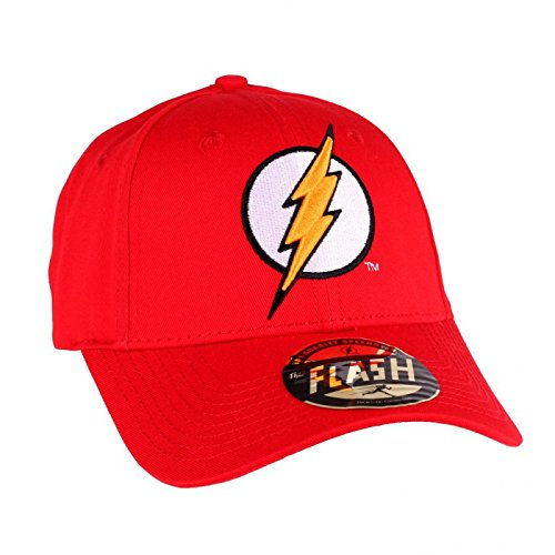 DC Comics The Flash Herren Snapback Cap - Lightning Logo Baseball Cap Rot