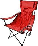 Campingstuhl Faltstuhl Klappstuhl Anglerstuhl Getränkehalter Stuhl Gartenstuhl für den Sommer Farbe Deluxe/Rot