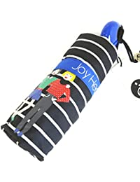Paraguas mini 'Joy Heart'azul negro (caminata).