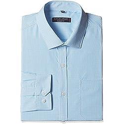 Excalibur Men's Formal Shirt (8907542727933_400016715453_42_Aqua)