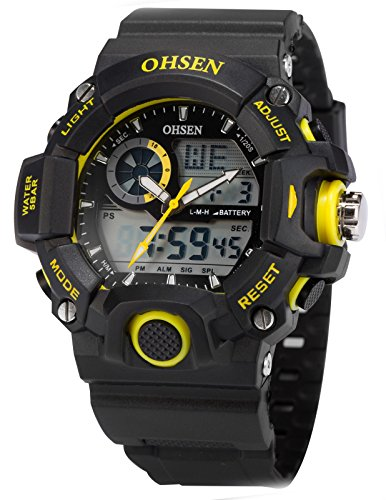 EASTPOLE Dual LCD Anzeige Herren Armbanduhr Quarzuhr mit Armband aus Silikon Sport Uhr OHS217 -