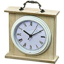 Boltze Vintage Mesa Reloj Reloj de pie en estilo rústico Natural 18 ...