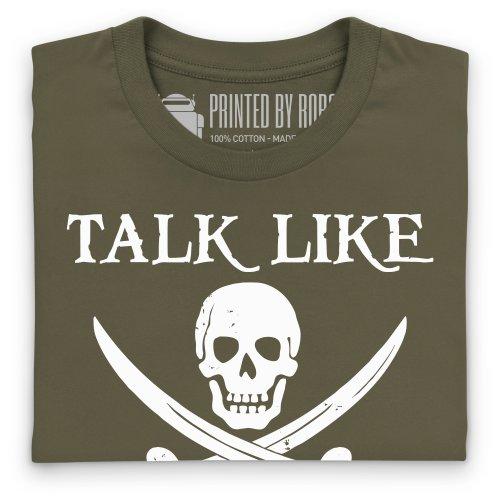 Talk Like a Pirate T-Shirt, Herren Olivgrn