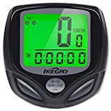 Bike Computer iRegro Cycle Computer Waterproof Wireless Bicycle Speedometer Kit Auto Wakeup Bike