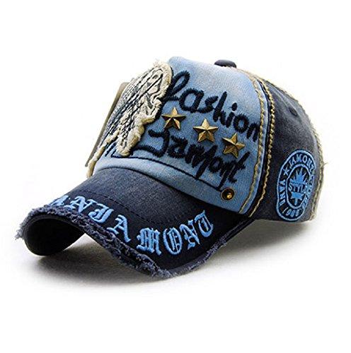 Dairyshop Uomo Unisex Uomo Snapback Reggiseno Baseball Cap Hip Hop Cappello Cool Bboy (Cachi) Blu profondo