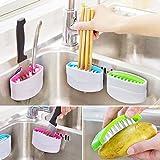 Zollyss Kitchen Dish Washing Tool Sponge Brush Utensil Scrubber Suction Sink Strainer Multifunctional Cutlery Fruit Vegetable Cleaner