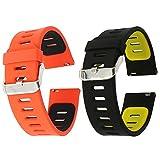 EL-move Silicone 22mm Bande Bracelet Montre Strap Remplacement Band pour Pebble Time...