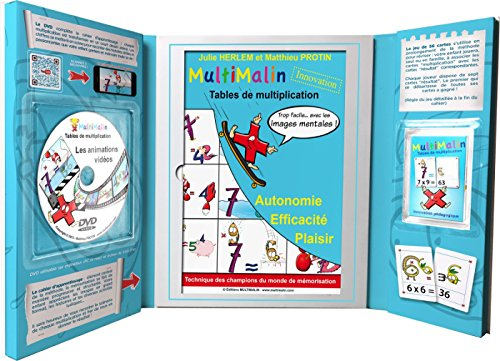 MultiMalin - tables de multiplication (coffret contenant 1 livret, 1 DVD et 1 jeu de cartes)