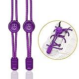 High Pulse Schnellschnürsystem (1 Paar) – Der elastische Schnürsenkel mit Schnellverschluss für einen perfekten Sitz und sicheren Halt (Violett)