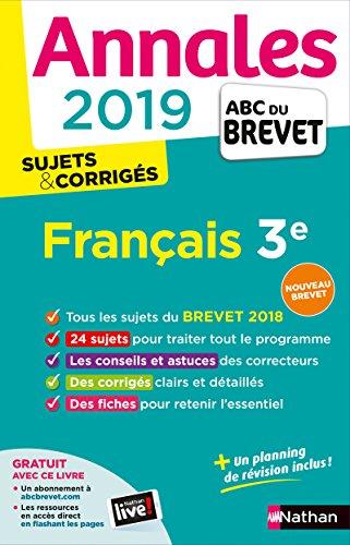 Annales ABC du Brevet 2019 - Français par Thomas Bouhours