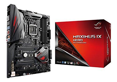 Asus ROG Maximus IX Hero Gaming Mainboard Sockel 1151 (ATX, Intel Z270, Kabylake, 4x DDR4-Speicher, USB 3.0, M.2 Schnittstelle)
