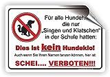 Singen und Klatschen - Kein Hundeklo Schild / Kein Hundekot / T-007 (30x20cm Aufkleber)