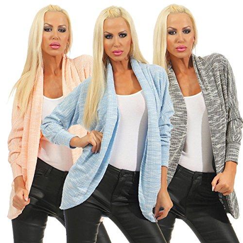 Fashion4Young - Boléro - Femme Noir noir 36 bleu clair