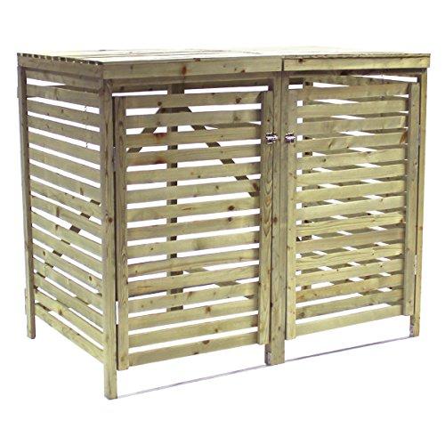 Bentley Garden - Tannenholz - Für 2 Tonnen - Für den Außenbereich