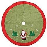Da.Wa 1 Stück 105cm Weihnachtsbaum Unterlage Christbaum Decke Runde Teppich Grün
