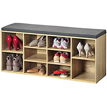 Kesper 1582013 Shoe Cabinet with Seat Cushion 29.5 x 103.5 x 48 cm ...