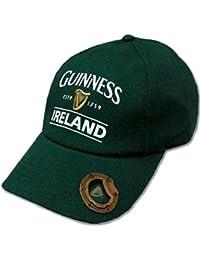 870d3934362 Guinness Baseball Cap with Built-in Bottle Opener - Bottle Green with  Guinness Harp