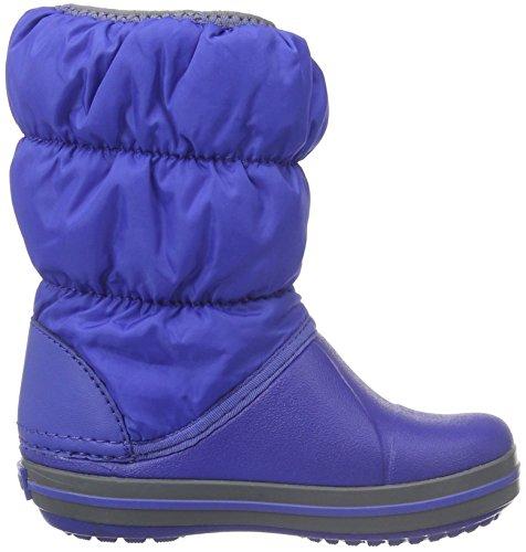 Crocs Winter Puff Boot Kid, Sneaker a Collo Alto Unisex – Bambini Blu (Cerulean Blue/Light Grey)