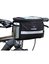 Fafada Sacoche de Cadre Vélo Cyclisme Bicycle Smartphone Bag pour Smartphone Iphone Tablette Etanche Noir