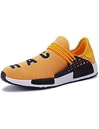 XIANV Scarpe da Uomo comode Sneakers da Corsa Sportive Leggere Sneaker(Rosso,42 EU)