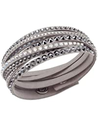 Swarovski - Pulsera de metal con cristal (37 cm)