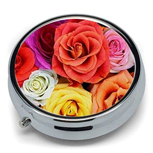 Cyberlee Pastillero Metal diseño Flores exóticas