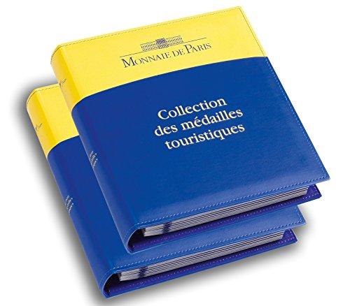 """2 albums monnaie design classique """"collections des médailles touristiques"""" pour 144 pièces"""