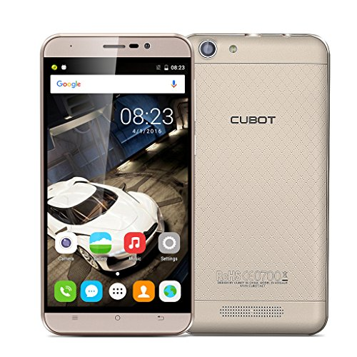 CUBOT Originale Dinosaur Smartphone 5.5'' IPS 4G LTE MT6735A 1.3GHz Android 6.0 Quad-Core 3GB/16GB 1280*720 HD 5.0MP/16.0MP 4150mAh Cellulare Dual SIM GPS WIFI Oro