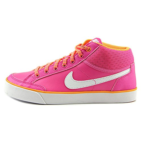 Nike Capri 3 MID LTR, Scarpe da Tennis Unisex – Bambini Rosa / Bianco / Giallo (Pink Pow / White-Bright Citrus)