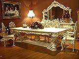 LouisXV Barock Esstisch Tisch Tafel Barock Rokoko Vp9975-6,0 Antik Stil Massivholz. Replizierte Antiquitäten Buche Antikmessing.