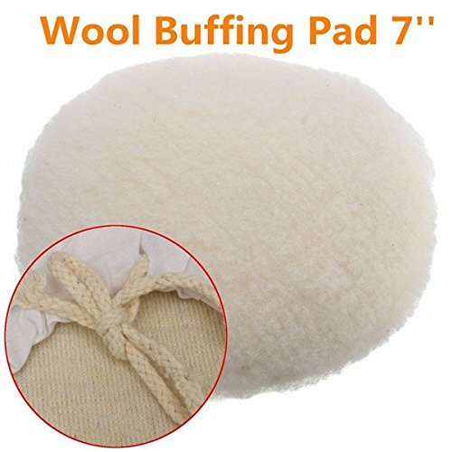 Yongse 7 pollici lucidatore Buffer in morbida lana Pad Bonnet con loop di lucidatura di lucidatura