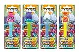 PEZ Spender Set Trolls (4 Spender mit je 3 PEZ Bonbons á 8,5g) + 2 Nachfüllpacks (8 PEZ Bonbons á 8,5g)