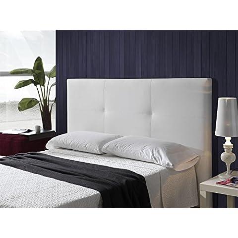 Cabecero tapizado en polipiel mod. Smooth 180 x 115 cm Blanco