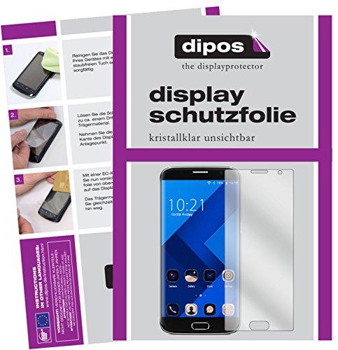 dipos I 2X Schutzfolie klar passend für BLUBOO Edge Folie Bildschirmschutzfolie