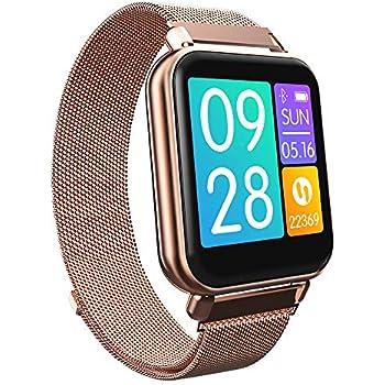 RanGuo Reloj Inteligente para Hombres Mujeres y niños, Deportes al Aire Libre Impermeable IP67 Smart