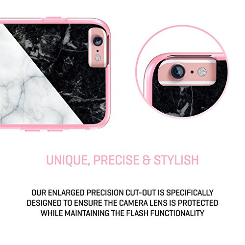 "iPhone 6 6s langlebige Schutzhülle Cover / Case / Hülle / Fall, True Color® Weißer Marmor [Kollektion Stein-Textur] Slim Hybrid Hartschale + Soft-TPU-Bumper 6 / 6s 4.7"" [True Protect Serie] Multicolor Marble Collage"