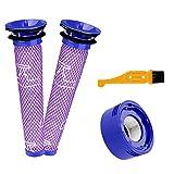 Energup Aspirateur Set d'accessoires pour Dyson V6 V7 V8 - 2 Filtres avant + 1 Filtre arrière + 1 Brosse de Nettoyage