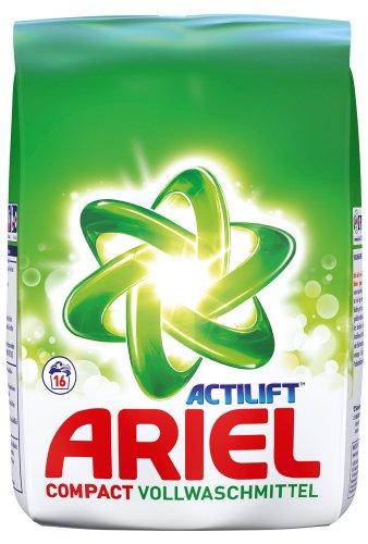 Ariel Compact Packung - 16WL, 5er Pack (5 x 1.2 kg) -