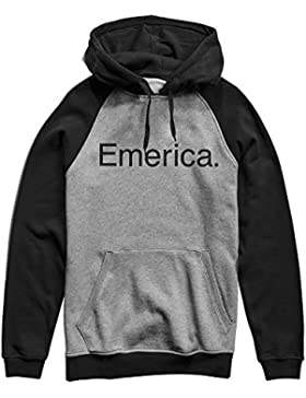 Emerica Sweat Purity Po Hooded Sudadera con Capucha, Unisex, 6130002491-570, Negro y Gris Oscuro, Extra-Large