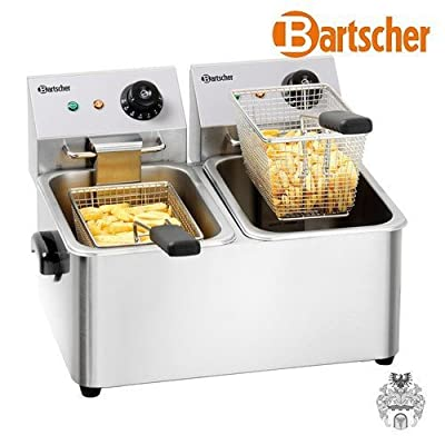 Bartscher Snack Ii Doppel Deep Fritteuse 8l 4000 W Stainless Steel Fryers Deep Fritteuse Doppelte Stainless Steel Stainless Steel