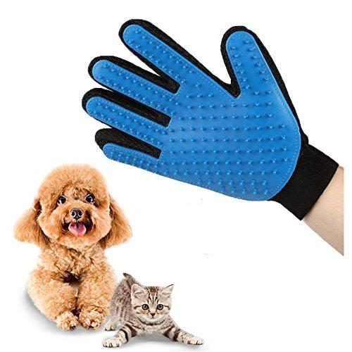 Guanto Spazzola da Massaggio per Cane Gatto Animale Materiale Premium Silicone Cane Cura