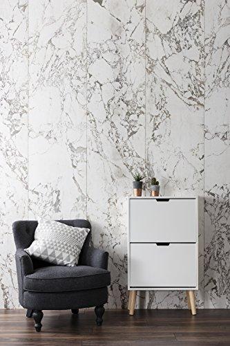Huf 2 Drawer Shoe Storage Cabinet in White & Pine Low Noa & Nani 514QDxBK9CL