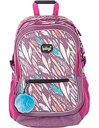 Baagl Kinderrucksack, Schulrucksack für Kinder mit ergonomisch geformter Rücken, Brustgurt und reflektierende Elemente